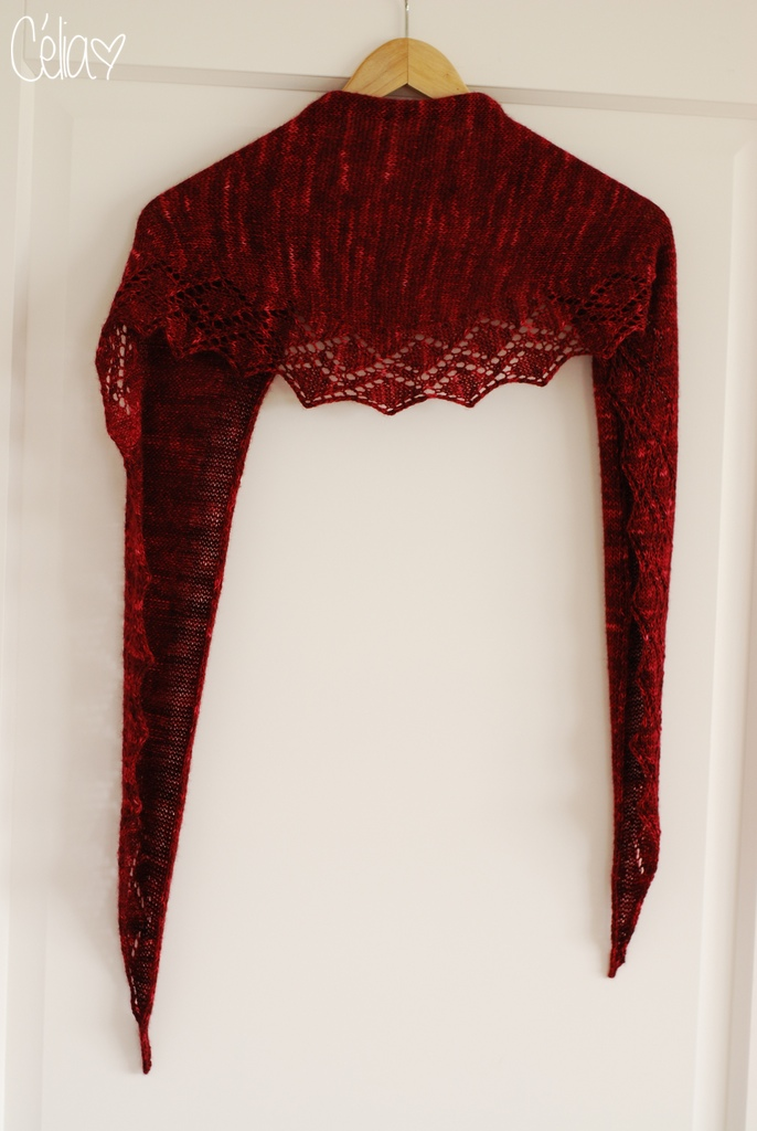 Zigzag Diamond shawl - Célia zut