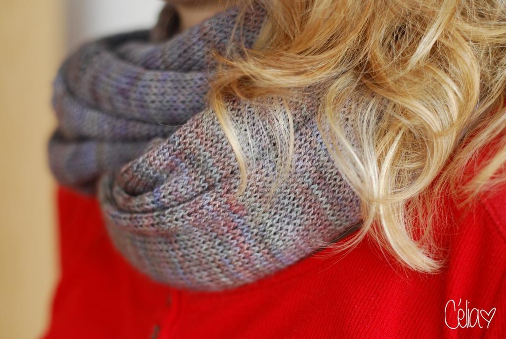 Opaline - Un col tricoté en jersey - Célia zut