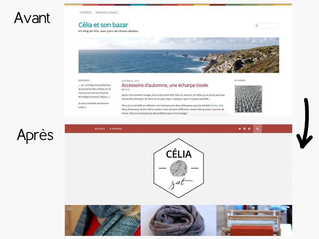 Captures avant/après - Célia zut