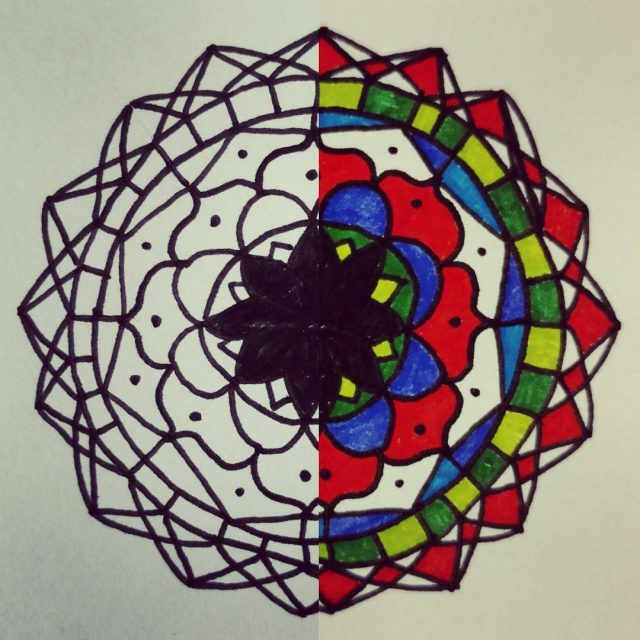 mandala love drawing