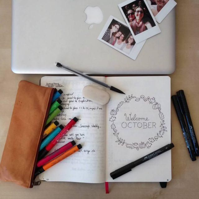 Bye septembre ! Welcome october ! Plus je dessine danshellip