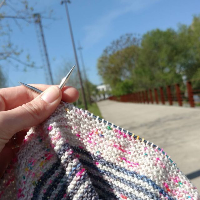 Taking a break taking a breath knit knittingismyyoga findyourfadeshawl