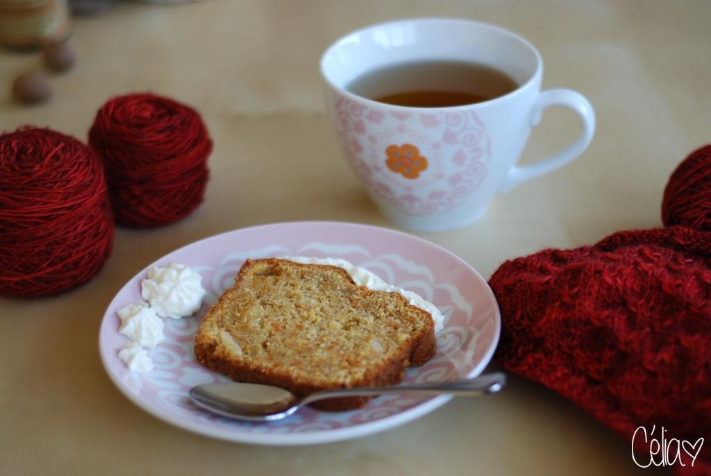 Carrot cake et tricot - Célia zut