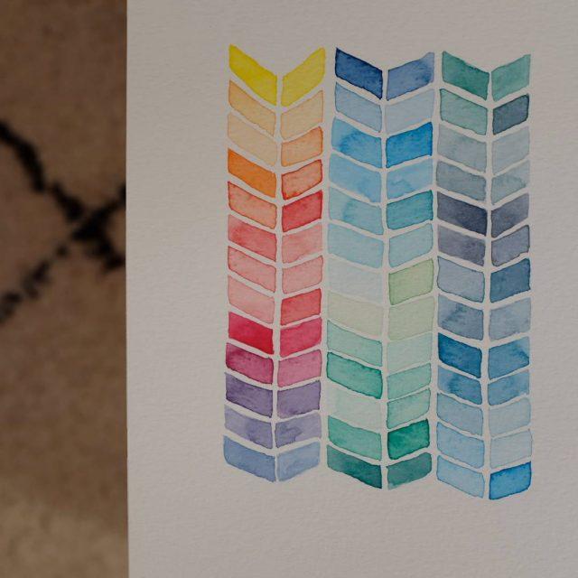 Happy monday with watercolor ! Inspiration from josielewisart x100f celiazutx100fhellip